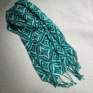 Target okay pattern teal scarf